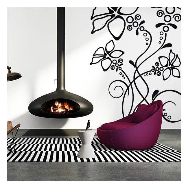 Vinilos decorativos adhesivos y pegatinas flores - Simulador de colores para paredes ...