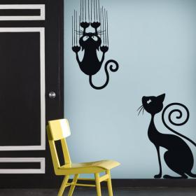Vinilos decorativos adhesivos y pegatinas gatos vinilos for Pegatinas vinilo decoracion