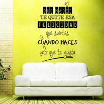 Vinilos Decorativos Adhesivos Frases Felicidad