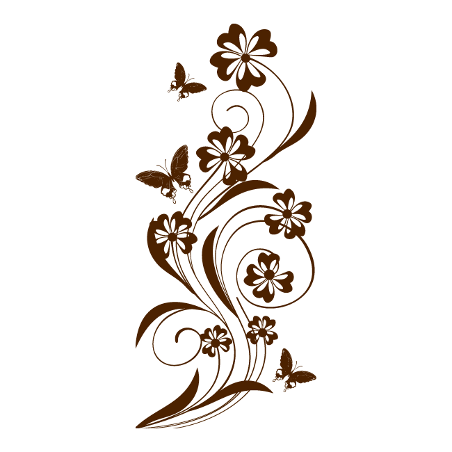 Vinilo decorativo enredadera pictures to pin on pinterest for Vinilos mariposas