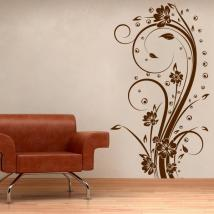 Vinilo Decorativo Flores Vertical I