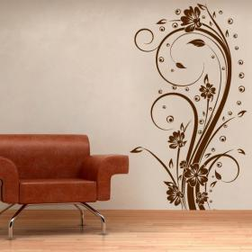 Vinilo Decorativo Flores Vertical I