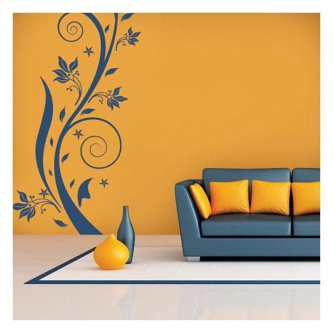 Vinilo Decorativo Flores Vertical