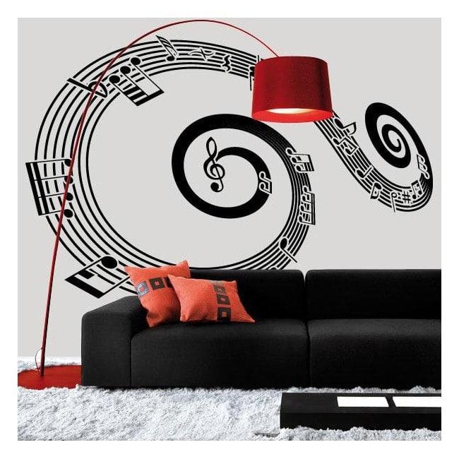 Vinilo Decorativo Pentagrama Espiral