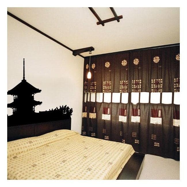 Vinilo Decorativo Pagoda Japonesa