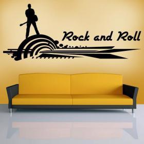 Vinilo Decorativo Rock and Roll I