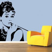 Vinilo Decorativo Silueta Audrey Hepburn