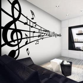 Pegatinas paredes pentagrama musical vinilos decorativos - Vinilos para entradas ...