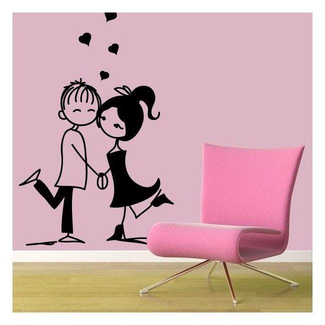 Adhesivos paredes enamorados for Adhesivos pared dormitorio