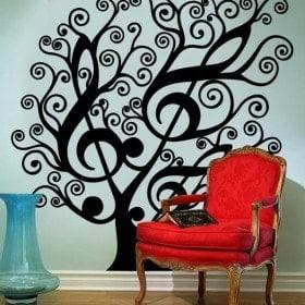 Vinilo Decorativo Árbol Musical