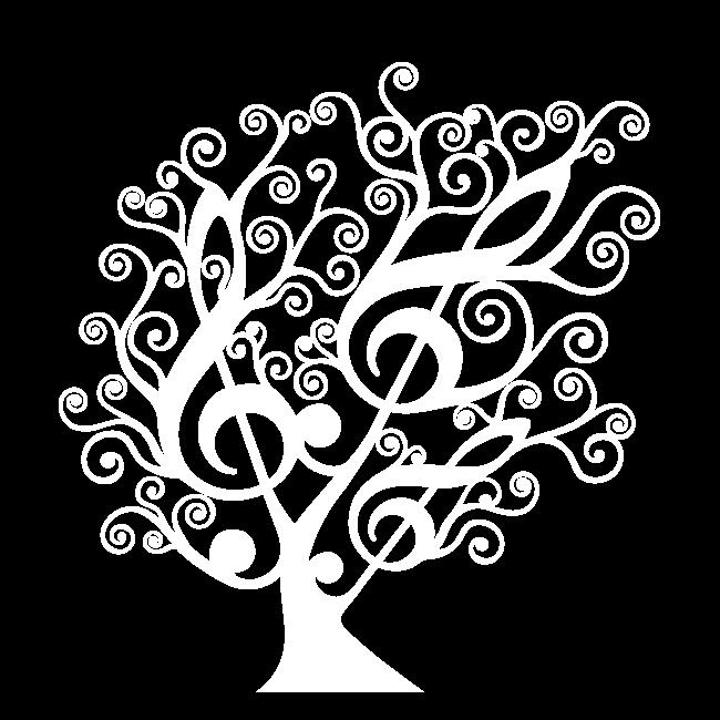 Vinilo decorativo rbol musical for Vinilos musicales