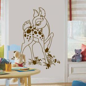 Vinilo Decorativo Bambi El Cervatillo