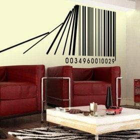 Vinilo Decorativo Código de Barras