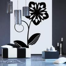 Decorar Paredes Flor Retro