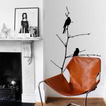 Vinilo Decorativo Pájaros Sobre La Rama