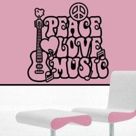 Decoración Paredes Paz y Amor