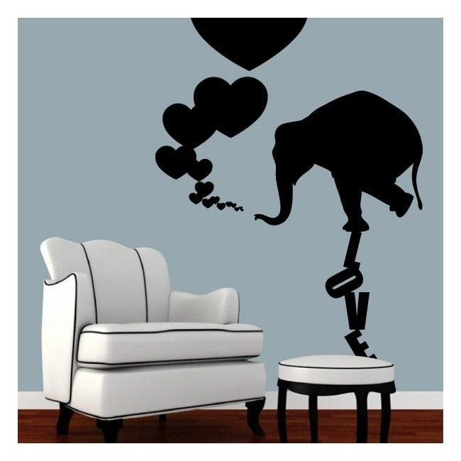 decoracin paredes elefante love