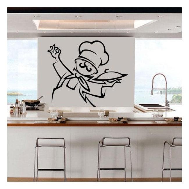 Decorar paredes cocina chef - Decoracion paredes cocina ...