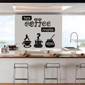 Vinilo Decorativo Té Café Mate