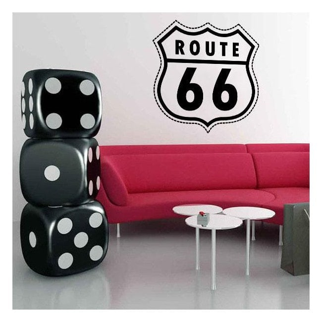 Vinilo Decorativo Route 66