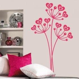 Vinilo Decorativo Flores de Amor