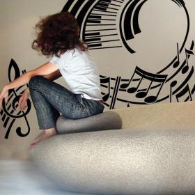 Decoración Paredes Pentagrama Musical