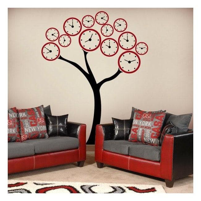 decorar paredes rbol relojes