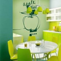 Vinilo Decorativo Apple Diet