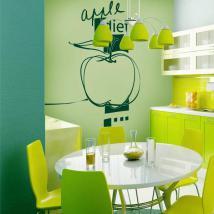 Vinilo Decorativo Apple Diet