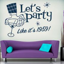 Vinilo Decorativo Lets Party