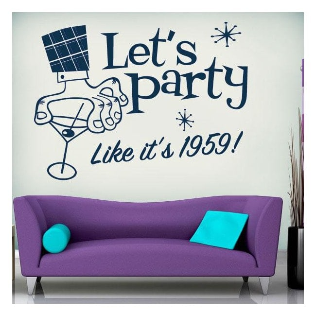 Vinilo Decorativo Lets Party