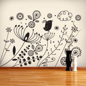 Pegatinas Paredes Arte Floral