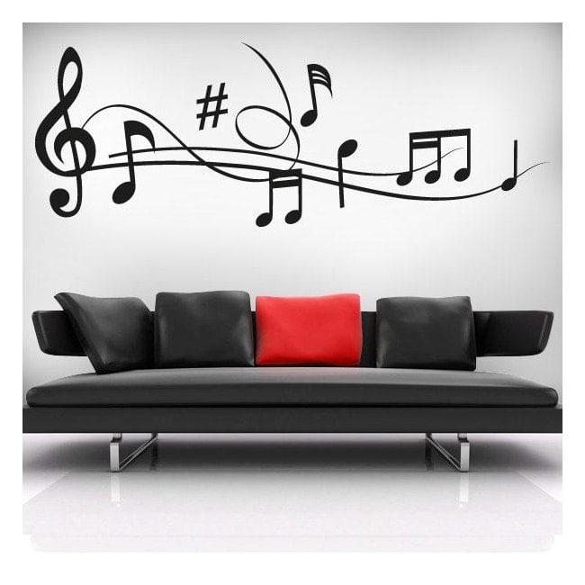 vinilos decorativos pentagrama musical