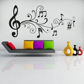 Vinilos Decorativos Notas Musicales