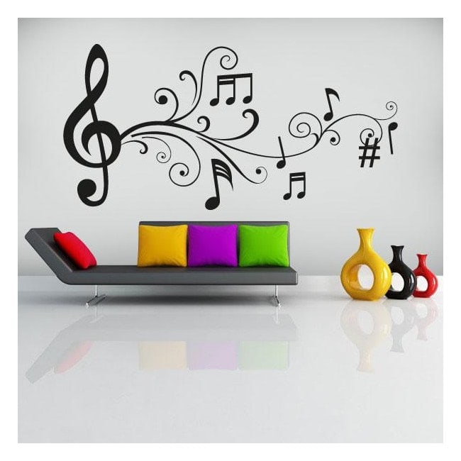 Vinilos decorativos notas musicales - Imagenes de vinilos infantiles ...