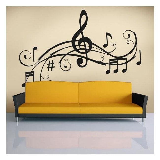 Vinilos decorativos detalle musical - Vinilos decorativos musicales ...