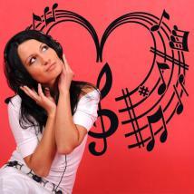 Vinilos Decorativos Corazón Musical