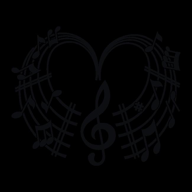 Vinilos decorativos coraz n musical for Vinilos decorativos infantiles musicales