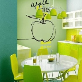 Vinilos Decorativos Apple Diet