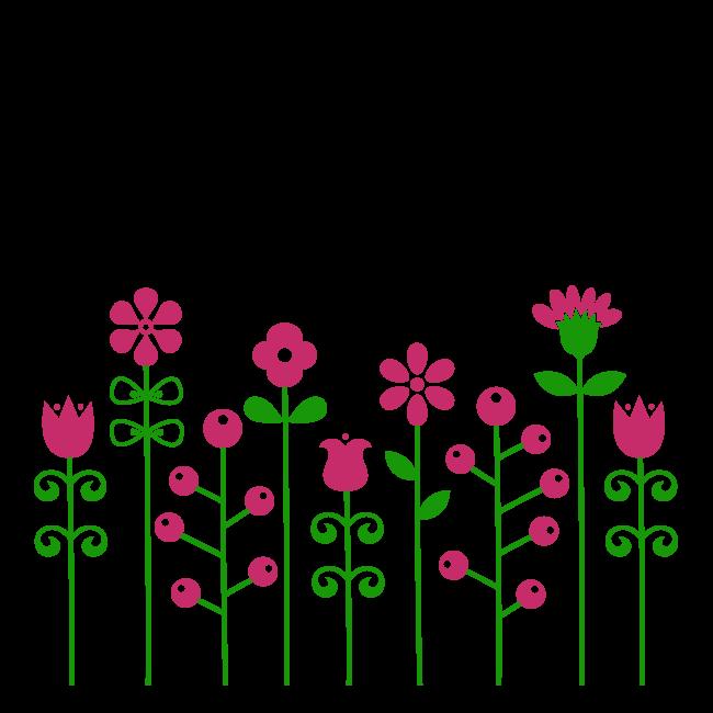 Vinilos decorativos flores bicolor for Vinilos decorativos infantiles baratos
