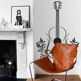 Vinilos Decorativos Guitarra Tribal