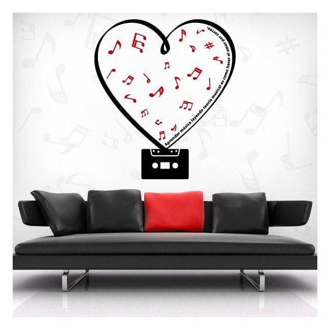 Vinilos Decorativos Cassette Romántico