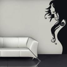 Vinilos Decorativos Silueta Mujer