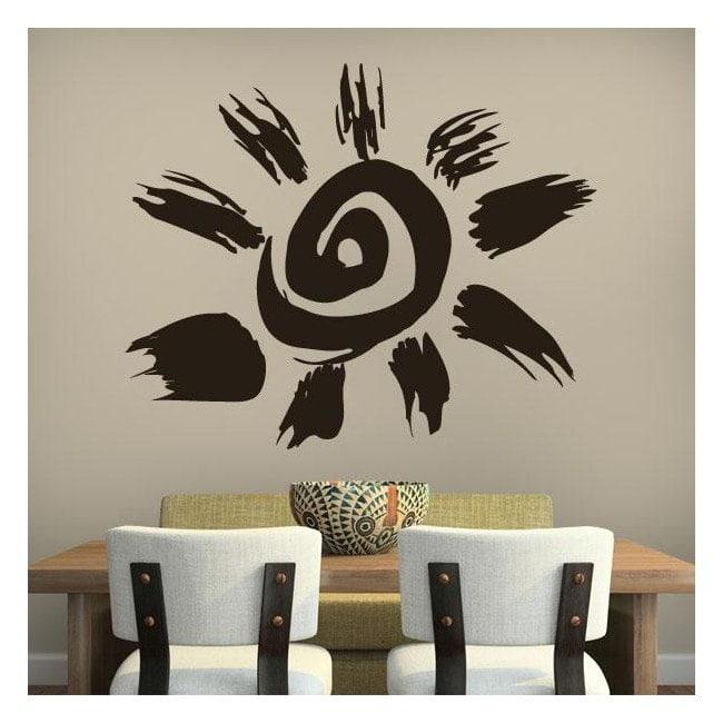 Vinilos Decorativos Sol Tribal Azteca