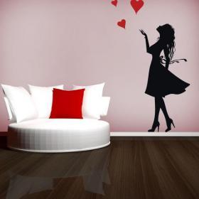 Vinilos Decorativos Mujer Romántica
