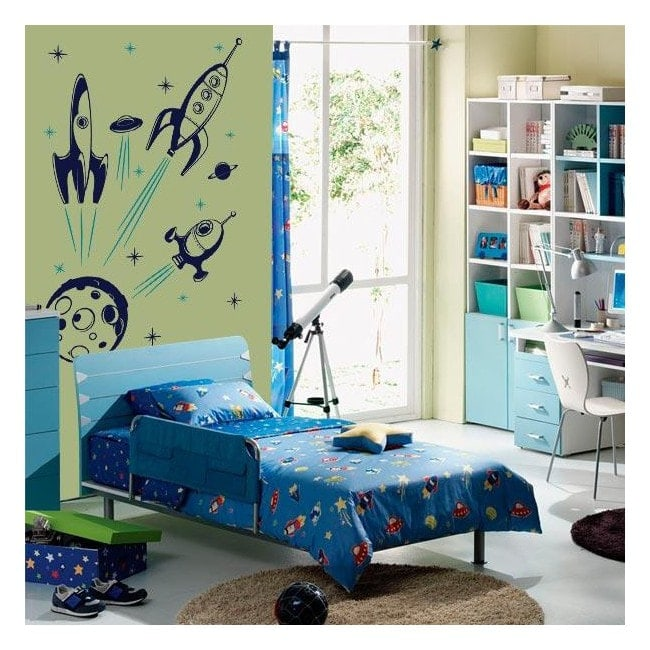 Vinilos decorativos infantiles naves espaciales for Vinilos decorativos infantiles musicales