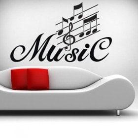 Vinilo Decorativo Detalle Musical