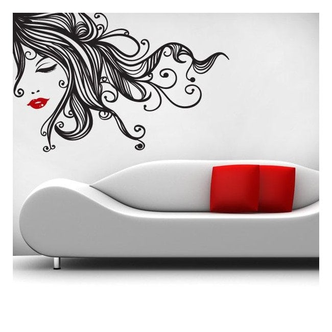 vinilos decorativos paredes mujer pop