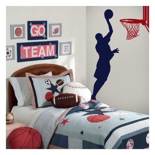 Vinilos decorativos paredes basketball for Vinilos decorativos musicales baratos