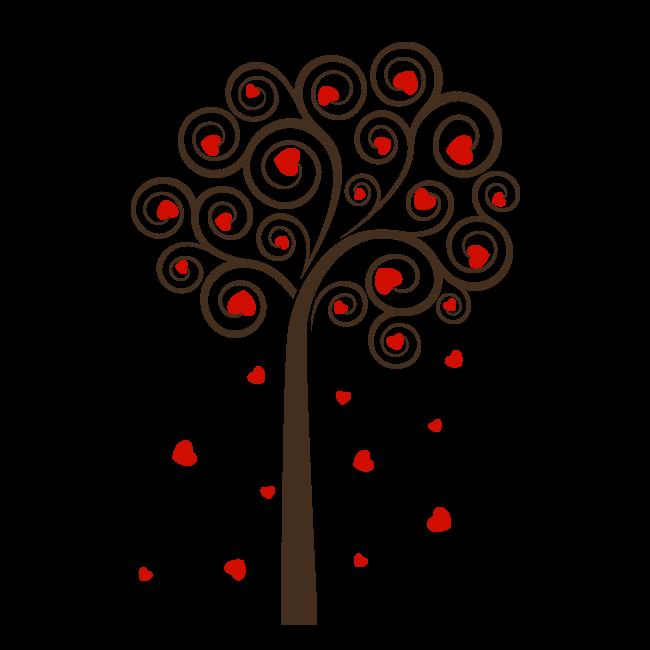 Vinilos decorativos rbol de corazones - Vinilos decorativos arboles ...
